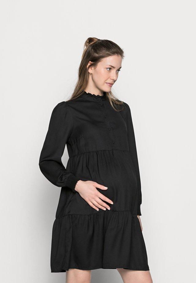 PCMLULLA DRESS - Shirt dress - black