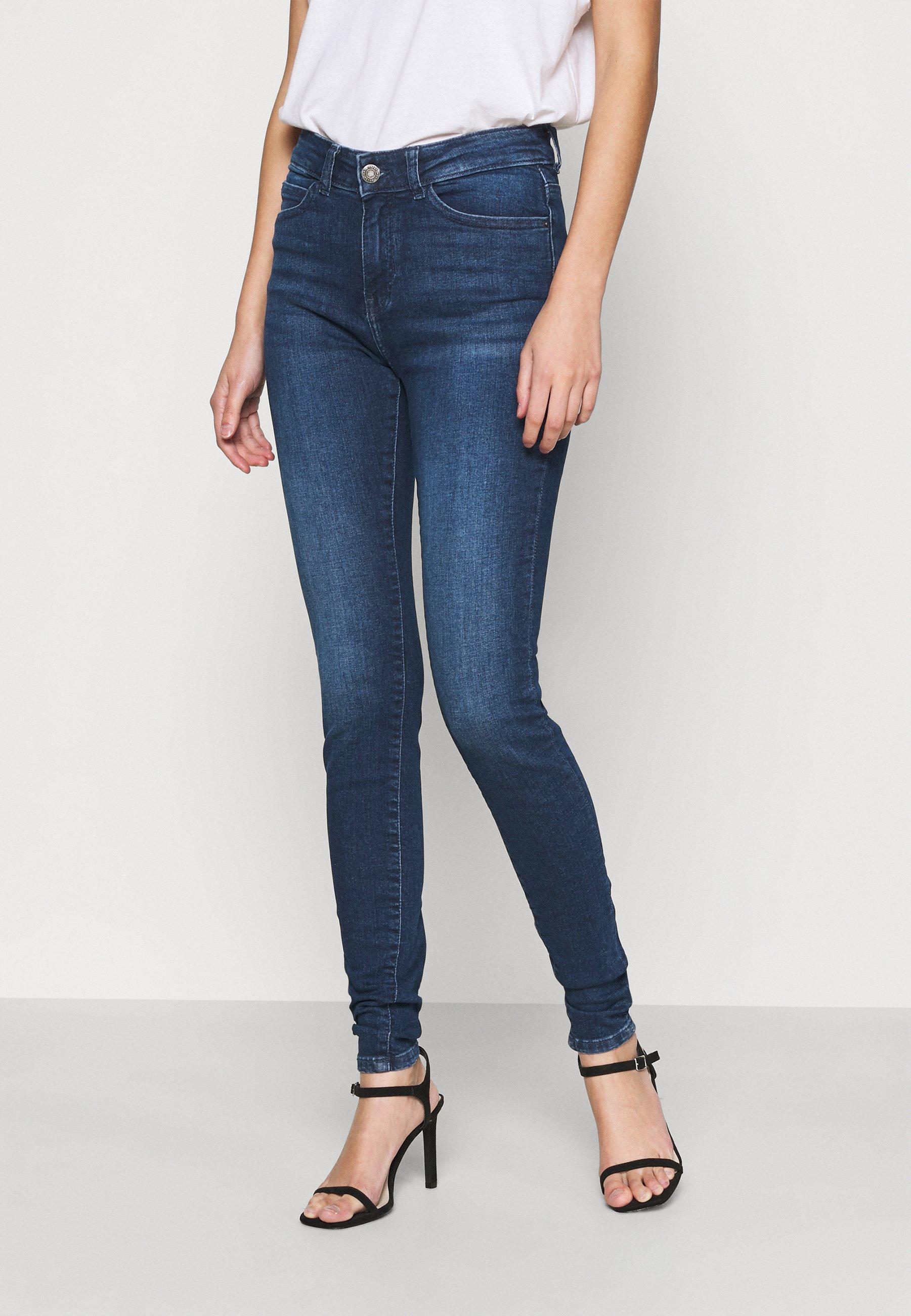 Women NMLUCY - Jeans Skinny Fit - dark blue