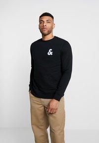 Jack & Jones - JJECHEST LOGO CREW NECK - Sweatshirt - black - 2