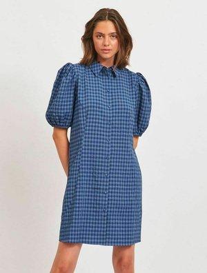PUFFÄRMEL - Shirt dress - blue mirage
