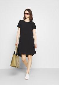 Marc O'Polo DENIM - ½ SLEEVE DRESS - Jersey dress - black - 1