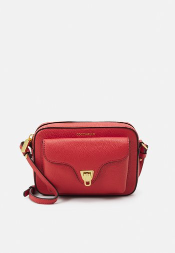 BEAT SOFT - Across body bag - coral red