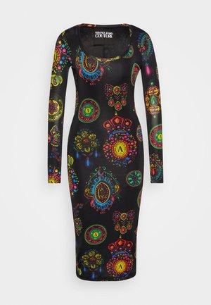 DRESS - Jerseykjole - black/multi
