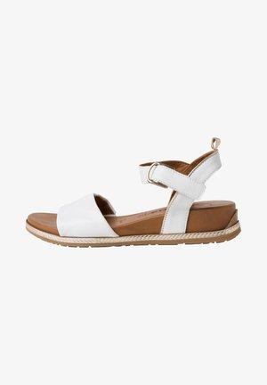 Sandalen met sleehak - white/lt.gold