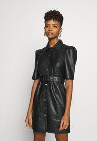 Object - OBJSTAR  DRESS  - Shirt dress - black - 0