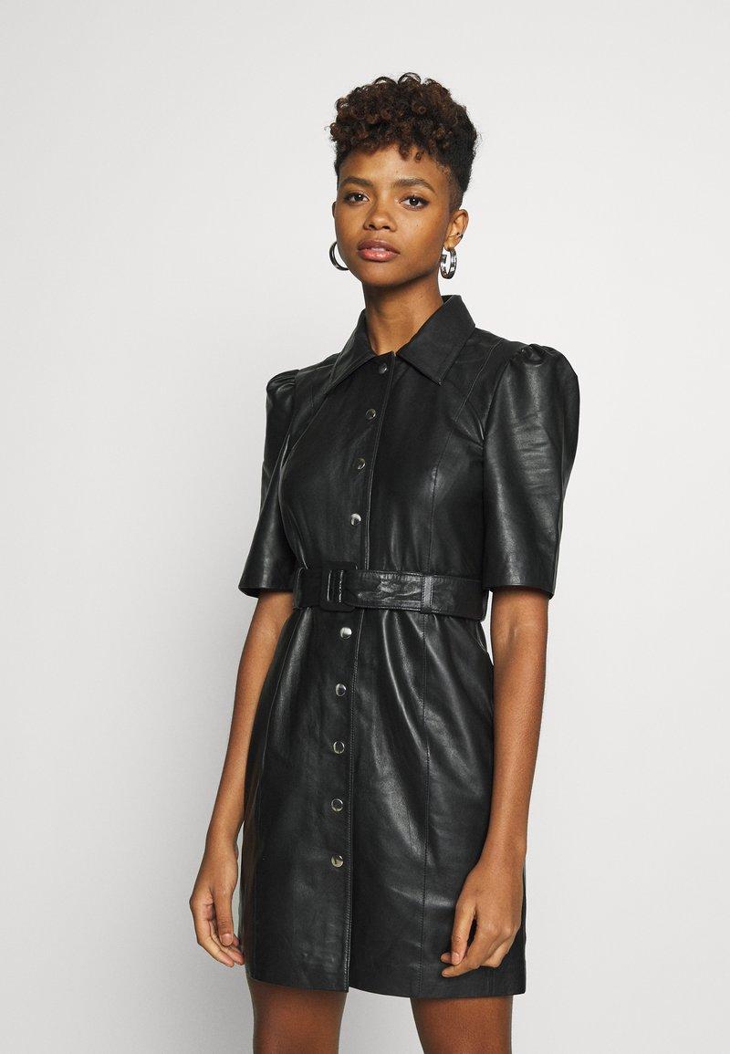 Object - OBJSTAR  DRESS  - Shirt dress - black