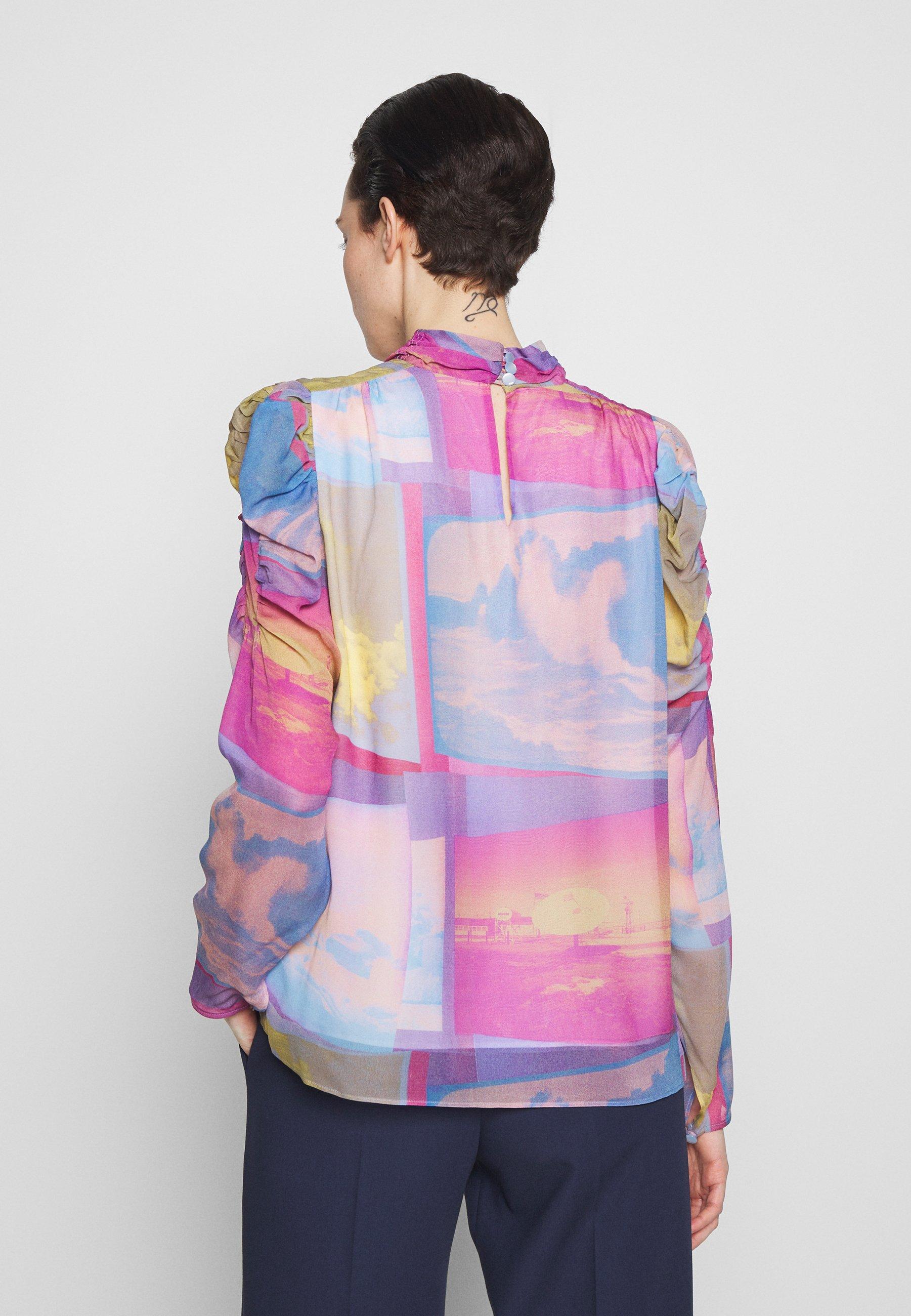 PS Paul Smith Blouse - pink/blue - Chemisiers et tuniques femme yOIJA