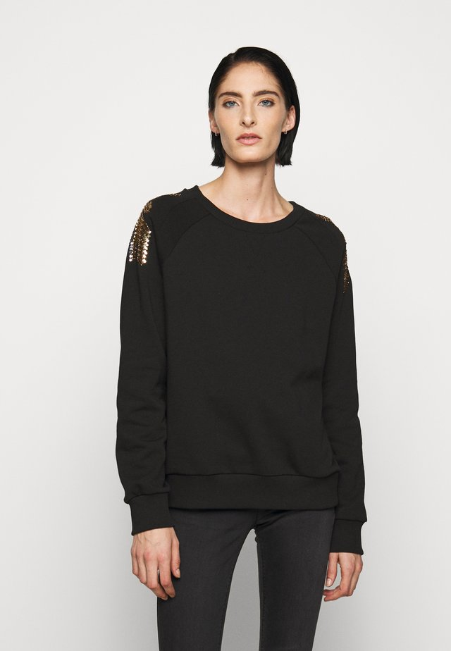 EMBELLISHED FLY - Sweater - nero