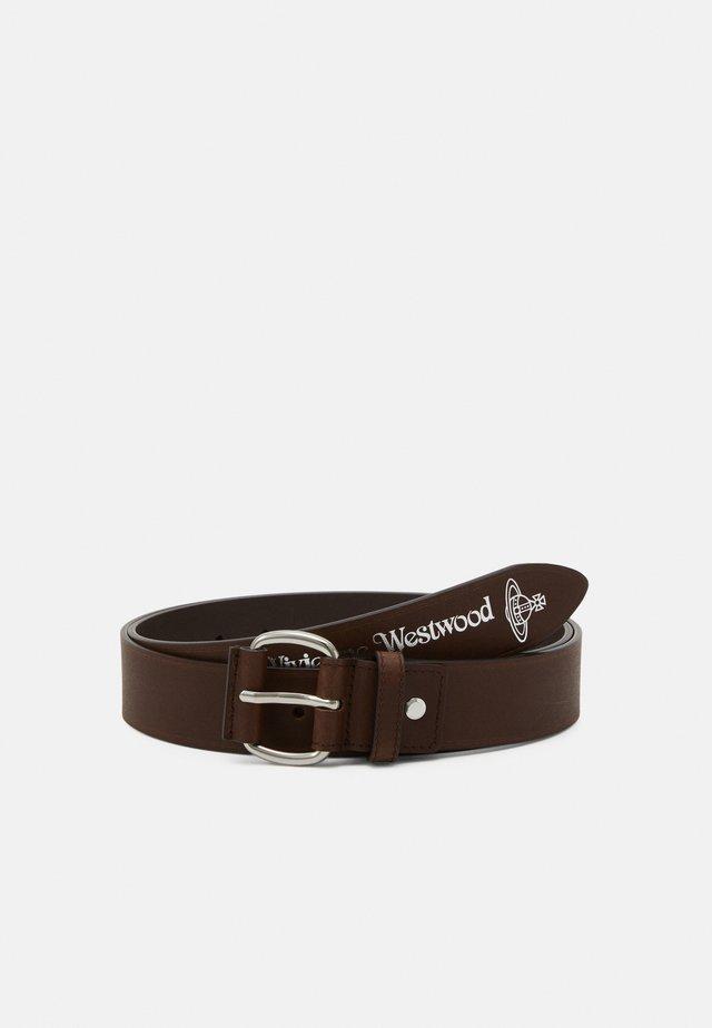 BELTS ROLLER BUCKLE BELT - Belt - brown