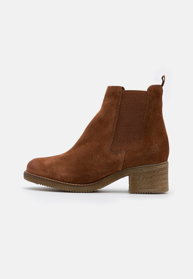 ZORA - Bottines - cognac