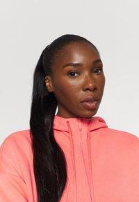 adidas Performance - Zip-up hoodie - coral - 3