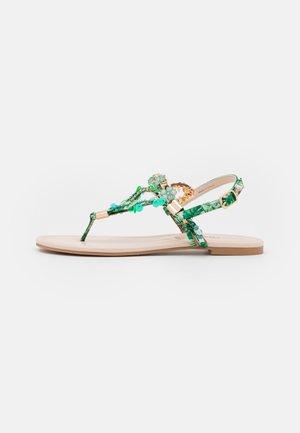 VEGAN REBECCA - T-bar sandals - green