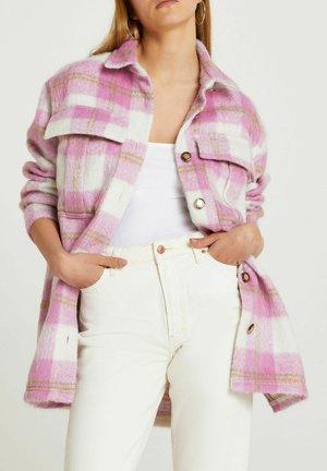 CHECK - Classic coat - pink