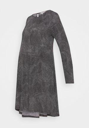 PIP SPOT DRESS - Denní šaty - black/white