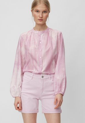 Button-down blouse - blurred berry