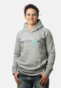 soccergirl - Hoodie - heather grey - 0