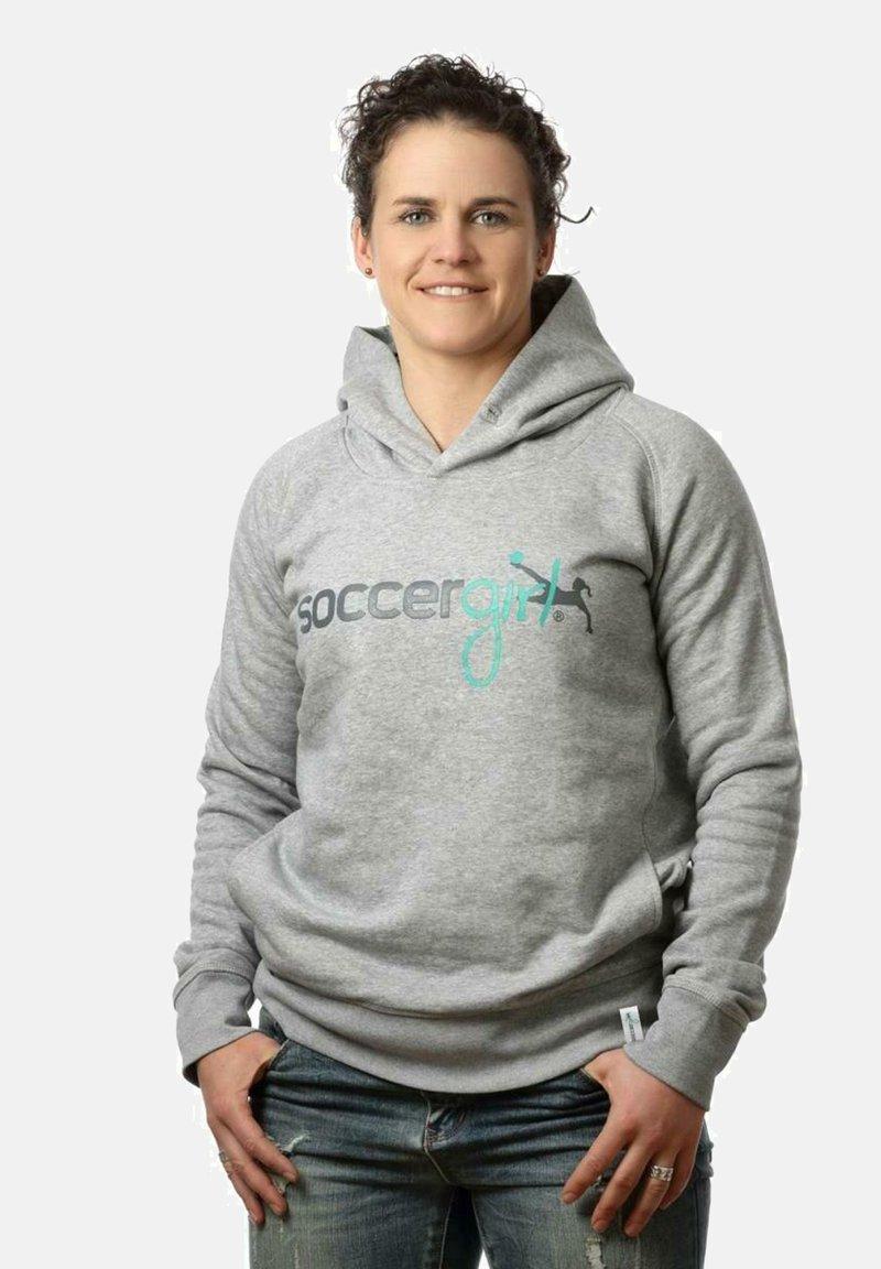 soccergirl - Hoodie - heather grey