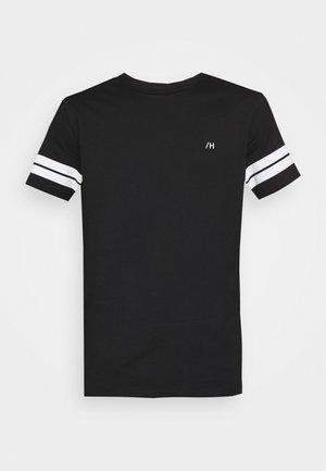 SLHREGPATO O NECK TEE - T-shirt med print - black