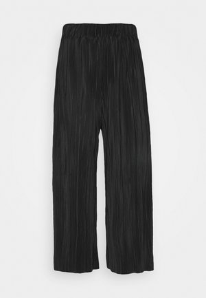 POPPY PLEATED CULOTTE - Trousers - black