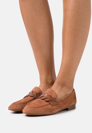 LEATHER - Slip-ons - cognac