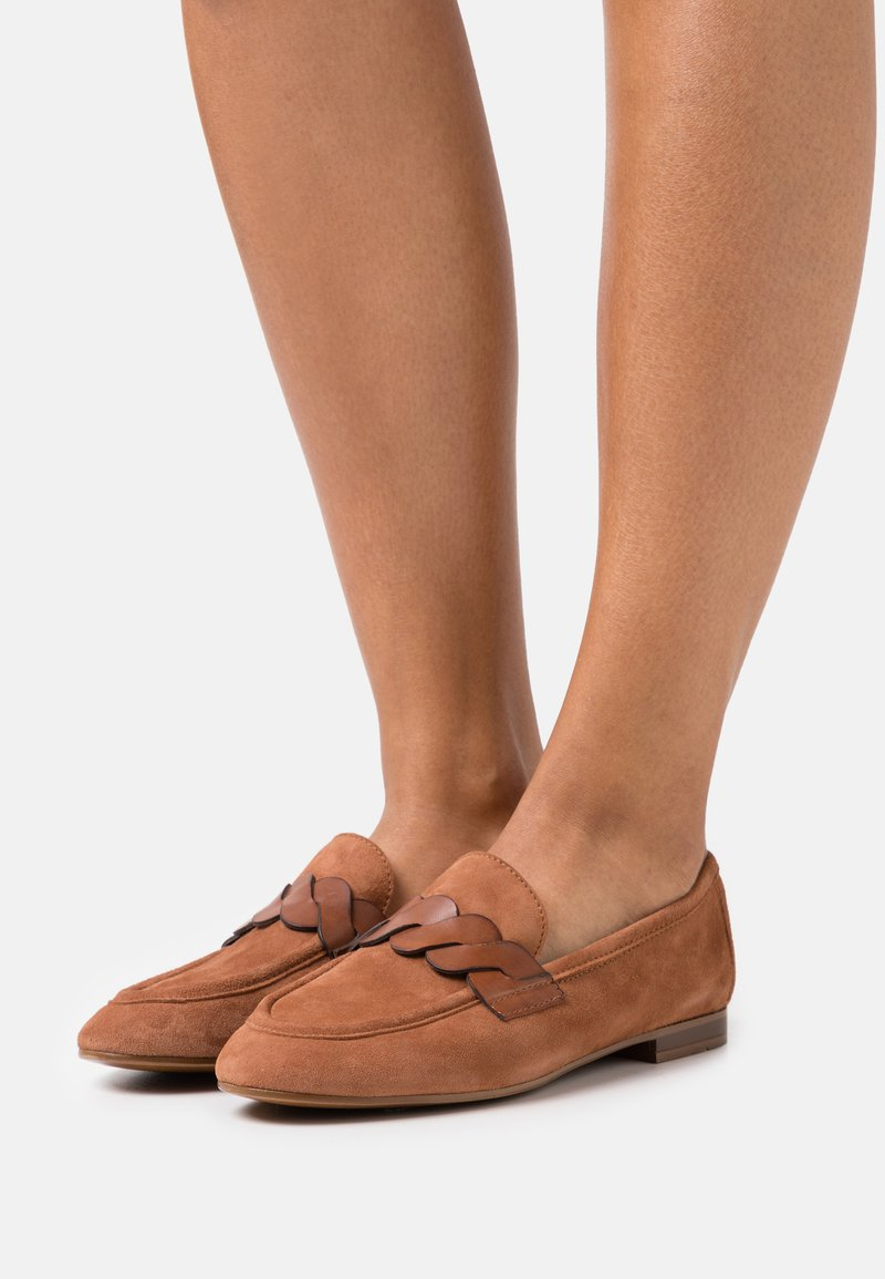 Anna Field - LEATHER - Slippers - cognac