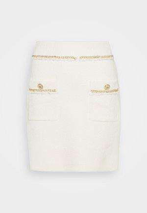 JONKYL - Mini skirt - ecru
