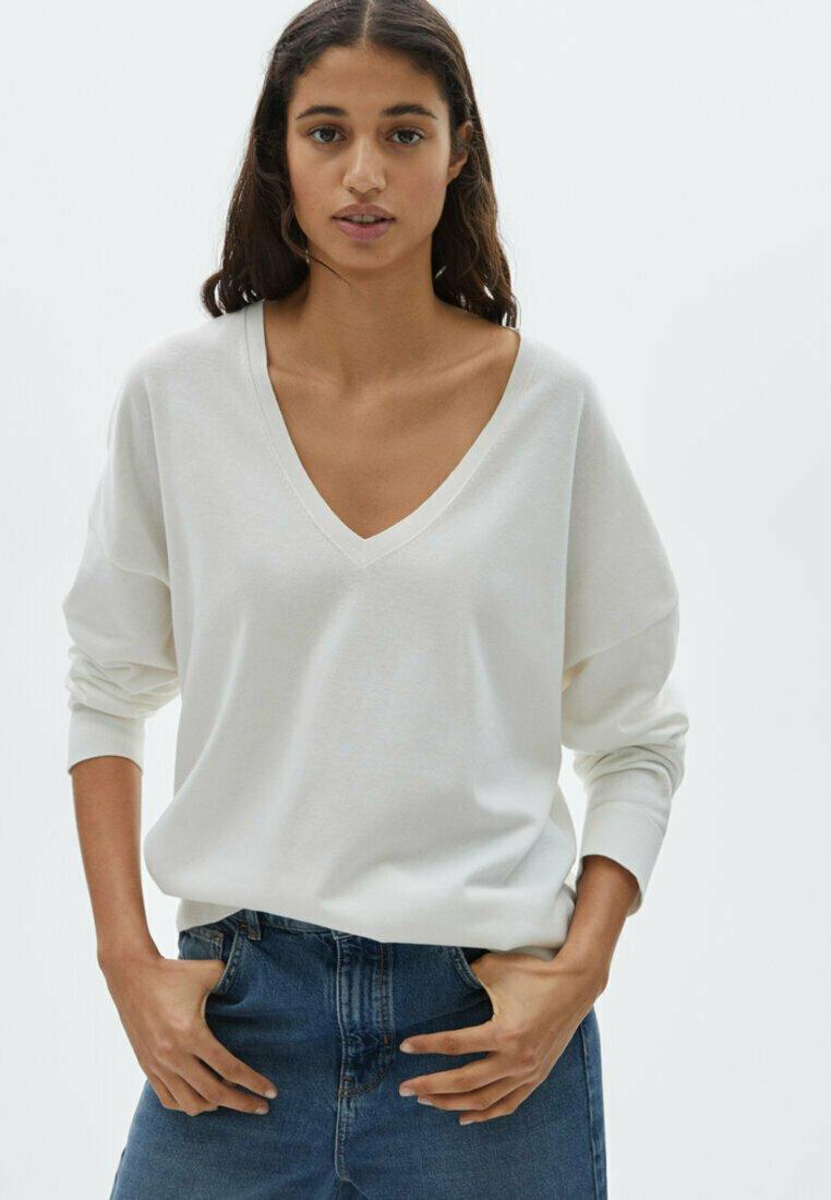 Massimo Dutti - Sweatshirt - white