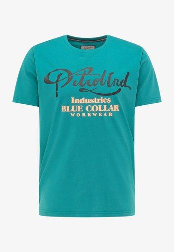 Print T-shirt - swamp green