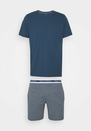 LOUNGESET CREW NECK - Pyžamová sada - jeansblau