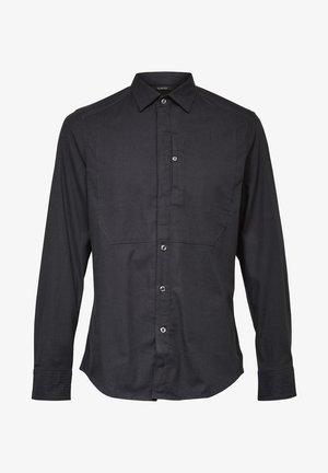 TUXEDO SLIM LONG SLEEVE - Shirt - dk black