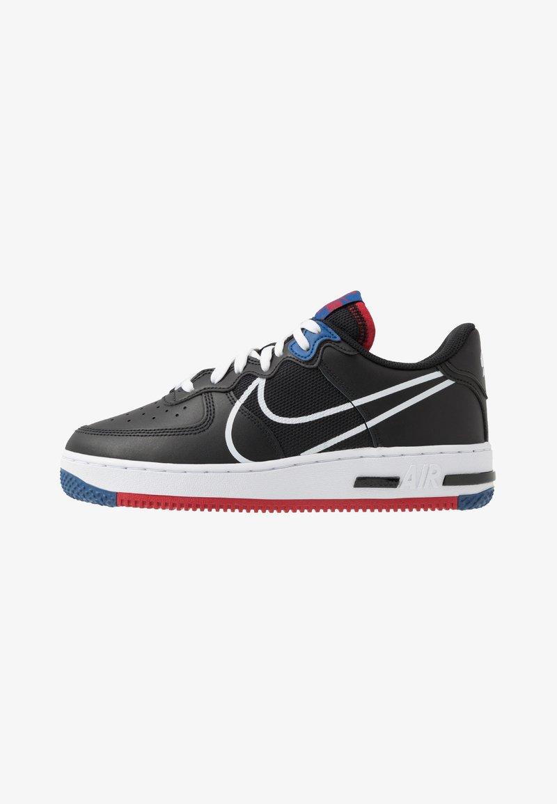 Nike Sportswear - AIR FORCE 1 REACT - Trainers - black/dark smoke grey/laser crimson/voltage purple