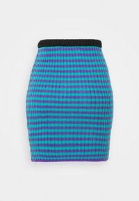 The Ragged Priest - STRIPE SKIRT - Mini skirt - blue/lilac - 1