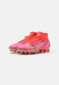 Nike Performance - MERCURIAL 8 PRO AG - Fodboldstøvler m/ faste knobber - bright crimson/metallic silver - 1