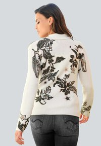 Alba Moda - Cardigan - off-white,anthrazit,rosenholz - 2