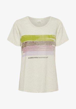 CRLEISHIA - Print T-shirt - oat melange