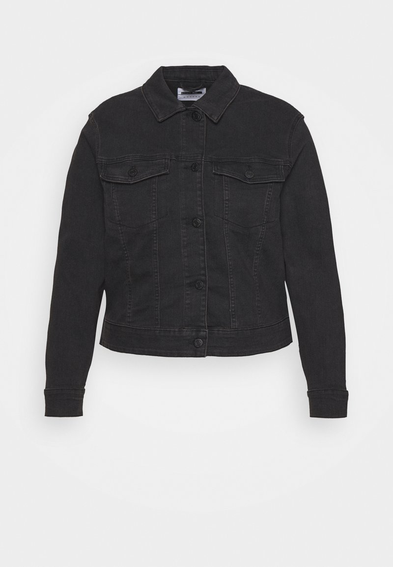 Noisy May Curve - NMDEBRA JACKET - Denim jacket - black