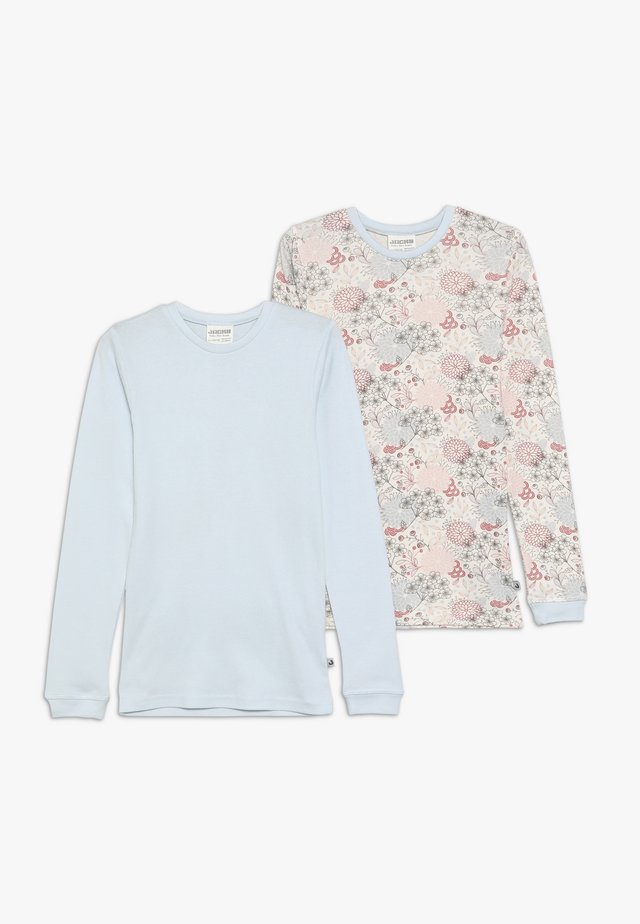 LONG FLOWERS 2 PACK - Maglietta intima - light blue