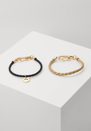 PLAITEDWRISTWEAR 2 PACK - Bracelet - black/beige/gold-coloured