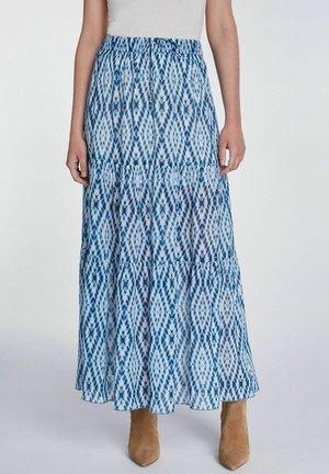 A-line skirt - white blue