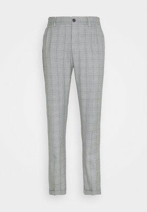 PINO CHECK ELASTIC WAIST PANTS - Stoffhose - light grey melange
