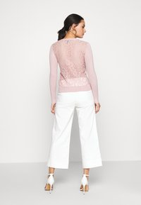 New Look - LACE BACK CARDIGAN - Cardigan - pale pink - 2