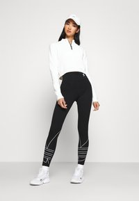 adidas Originals - LOGO TIGHTS - Leggings - Trousers - black - 1