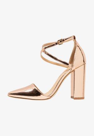 KATY - High heels - rosegold metallic