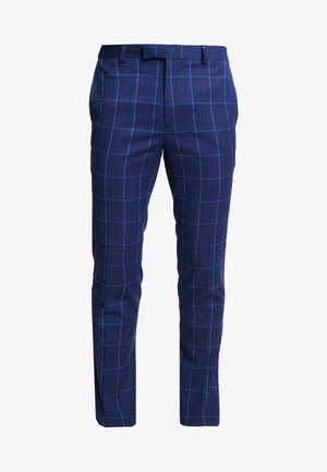 PAGE CHECK - Suit trousers - navy