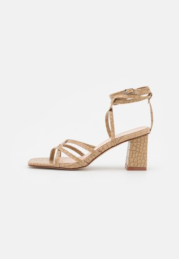MALANY - T-bar sandals - nude