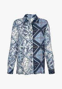 Laura Kent - Button-down blouse - marineblau mintgrün wollweiß - 2