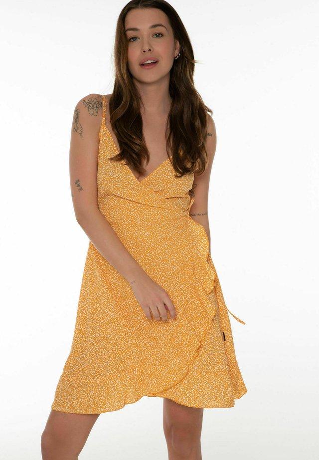 Vapaa-ajan mekko - yellow