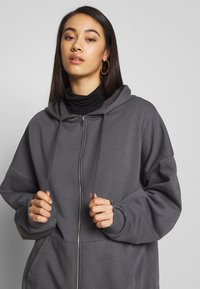 Nly by Nelly - CHUNKY ZIP HOODIE - Zip-up hoodie - offblack - 3