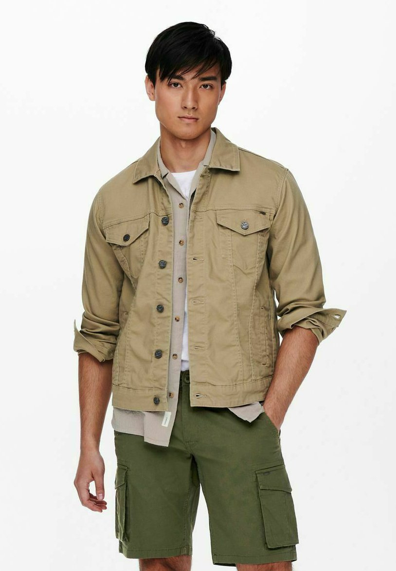 Uomo EINFARBIG - Giacca di jeans