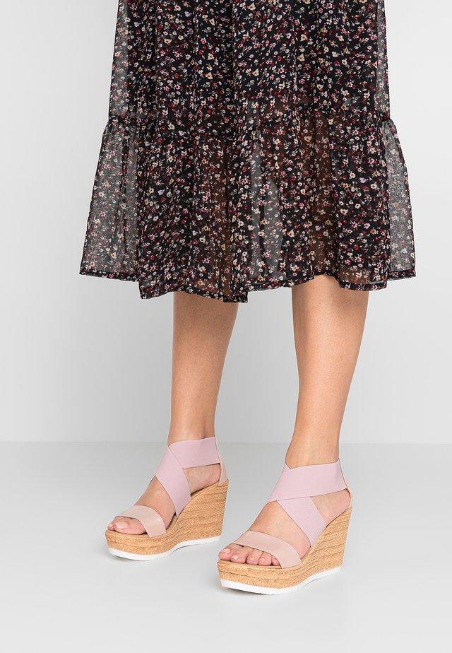 DRAKE - High heeled sandals - carne